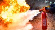 тушение пожара углекислым огнетушителем